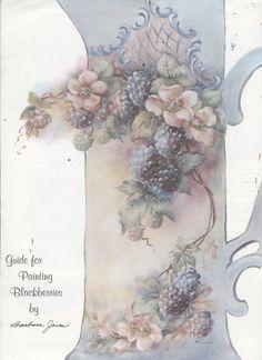 Guide for Painting Blackberries by Barbara Jones China Painting Study | eBay