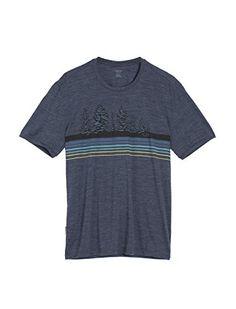Icebreaker Herren Mens Tech Lite Ss Crewe Evergreen Geo T-Shirt