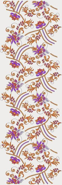 Hand Stitched Medium Length Allover Designs - Embdesigntube
