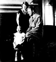Scottie, Zelda, and Scott Fitzgerald, 1927.