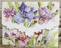 Wilson Purple Iris Blank Note Card Set Embossed 095372021531