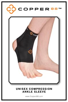 Available from XS- XXL, this Compression Ankle Sleeve is the only in the world to have 88% copper embedded in it's fiber composition.The compression supports your muscles and joints aiding in faster recovery time.Comfortably worn during exercise, rest and in the shower.Super-fast wicking keeps garments dry Antibacterial and anti-odour properties will keep you feeling and smelling fresh. Copper88™ fabric attributes are inherent in all our garments and will last for as long as you own our…