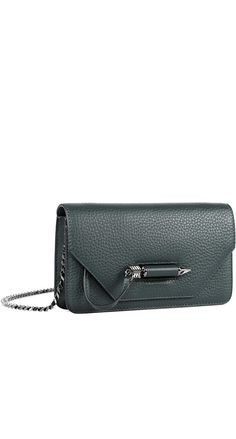 ZOEY-C DUAL LEATHER MINI CROSSBODY BAG IN PINE