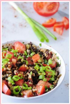 Beluga Black Lentil Salad Recipe with Wild Rice. Easy and healthy lentil salad recipe that is gluten free and vegan with lemon juice, cilantro and tomatoes. Lentil Salad Recipes, Healthy Soup Recipes, Veggie Recipes, Vegetarian Recipes, Free Recipes, Eat Healthy, Vegan Vegetarian, Lentil Dishes, Red Lentil Soup