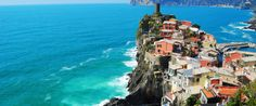 The Italian Riviera All five towns that make up the Cinque Terre on the Italian Riviera are beautiful, but ManarolaVernazza Is The Most Stunning Cliff Town We've Ever Seen