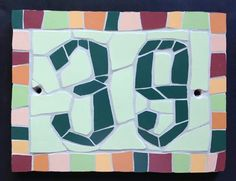 Special promotion on bespoke mosaic house numbers! House Numbers, Porcelain Tile, Are You The One, Alphabet, Tiles, Mosaic, Kids Rugs, Symbols, Special Promotion