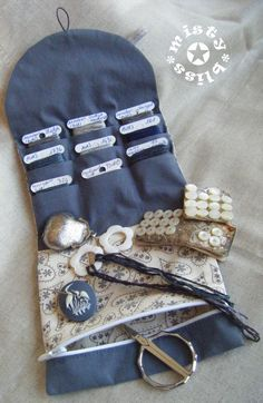 Pinkeep aimanté  :           Tuto Pinkeep aimanté                    *******************      Pochette à fils de brodeuse :             ...