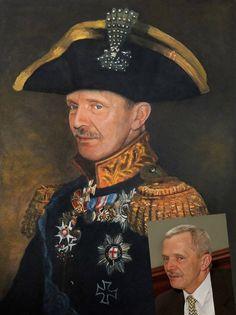 Portret olejny stylizowany.