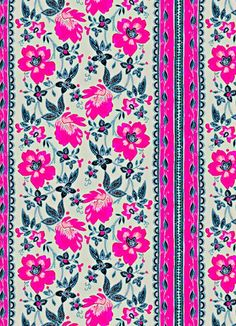 Floating on Air (background to sky, dark pink to lighter magenta) Pretty Patterns, Flower Patterns, Color Patterns, Textile Prints, Textile Patterns, Textiles, Backgrounds Wallpapers, Cute Wallpapers, Surface Pattern Design