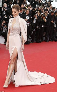 The former Girls Aloud star revealed that she chose her Cannes red carpet gown weeks befor...