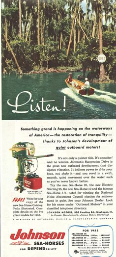 Vintage Sled, Vintage Boats, Outboard Boat Motors, Cool Boats, Best Ads, Boathouse, Power Boats, Fishing Boats, Vintage Advertisements