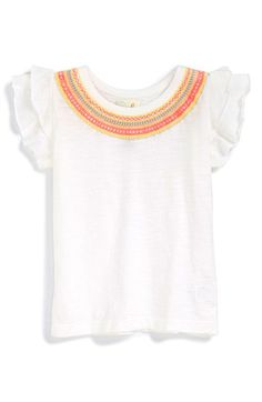 Peek  Anna  Embroidered Cotton Tee (Baby Girls) available at  Nordstrom Anna cfebe1e50c5