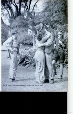 A staff sergeant and his wife find each other after the horror of the Pearl Harbor attack on Dec. 7, 1941. This photo appeared in the Dec. 19, 1941, edition of LIFE magazine.