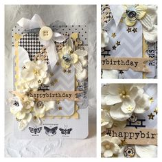 Made a card of project life cards #blomsterbox #card #create #cardmaking #mftstamps #wildorchidcrafts #flowers #butterflies #yellow #timholtz #stamps