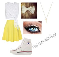 """First Date with Ross"" by mickeyreece on Polyvore featuring QNIGIRLS, TIBI, Converse and Gucci"