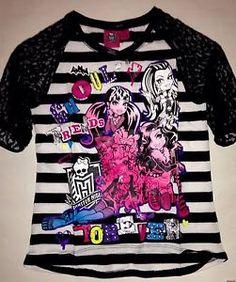 Monster High Girls Size 10 12 Shirt New with Tags Top Jersey Shirt Daisy Marie, Frozen Dolls, Jersey Shirt, Monster High, Shirts For Girls, Girl Outfits, Size 10, Graphic Sweatshirt, Sweatshirts