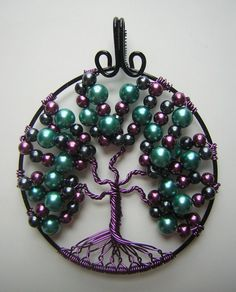 Playful Purple Tree of Life *SOLD* by RachaelsWireGarden on DeviantArt