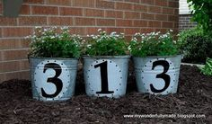 A crafty idea for the home - Address Flower Buckets!