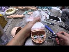 Blythe Customization Part One: First Attempt Head Opening, Eye Mech Removal, Sanding - YouTube