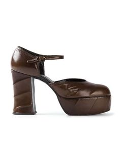 5dd3e9987a6d Brown leather pumps from Biba featuring a round toe