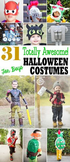 31 Totally Awesome DIY Halloween Costumes for Boys via @hollyhomer