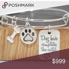 Spotted while shopping on Poshmark: Dog hair completes the outfit bangle! #poshmark #fashion #shopping #style #Octoberlove_pm #Jewelry
