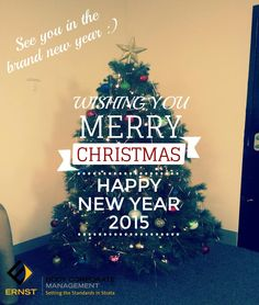 At Ernst Body Corporate Management, we'd like to wish you a Merry Christmas and Happy New Year 2015! See you in the new year :) Both our Gold Coast & Brisbane office will re-open on Monday, 5 January 2015. For emergencies, please contact our local office office for more info, http://www.ebcm.com.au/contact-us.html