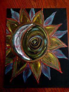 Black canvas mandala