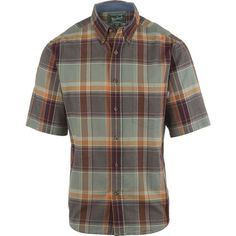 Woolrich Timberline Shirt - Short-Sleeve ($45) ❤ liked on Polyvore featuring men's fashion, men's clothing, men's shirts, men's casual shirts, mens short sleeve cotton shirts, woolrich mens shirts, mens casual short-sleeve button-down shirts, mens short sleeve shirts and mens cotton shirts