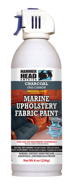 Charcoal Grey Marine Upholstery Fabric Paint