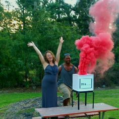 Gender Reveal Idea... how did they do smoke?