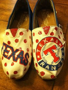 Texas Rangers, I want to make some toms like this for baseball season. #LOVE