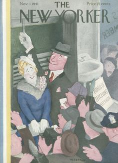 The New Yorker - Saturday, November 1, 1941 - Issue # 872 - Vol. 17 - N° 38 - Cover by : William Cotton