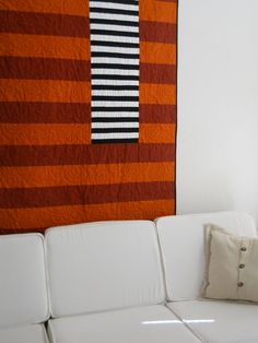 """This is he flannel quilt I made inspired by Sean Scully's painting, """"The Moroccan"""""""