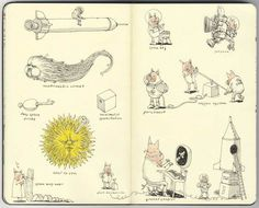 Sketchbook 25 by Mattias Adolfsson, via Behance
