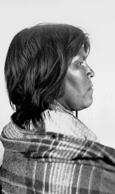 Pima Indian woman's profile. Arizona.