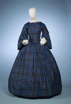 Silk, Dutch, ca. 1855-60.  Gemeentemuseum Den Haag, nr. 0556145
