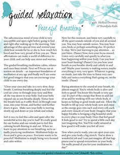Free Guided Meditation Script - Peaceful Deep Breathing Imagery #guidedimagery #guidedrelaxation #guidedmeditation #meditationscriptsforkids #meditation #meditationforkids