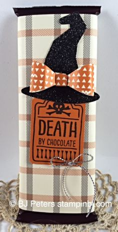 Sweet Hauntings Boo to You framelits Notetag punch Happy Haunting DSP Stampin' Up! Bonbon Halloween, Halloween Paper Crafts, Candy Crafts, Halloween Projects, Halloween Cards, Holidays Halloween, Holiday Crafts, Happy Halloween, Halloween Decorations