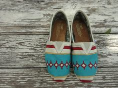 Custom hand painted TOMS South by Southwest by solereflections, $65.00