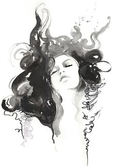 Fashion Watercolor Print Fashion Illustration door silverridgestudio
