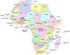En este mapa aprenderás a situar correctamente los países de África. States In Usa, Maps, Interactive Map, Countries, Entryway