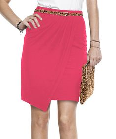 Take a look at this Pink Rose Faux Wrap Pencil Skirt by Baukjen on #zulily today! $40 !!