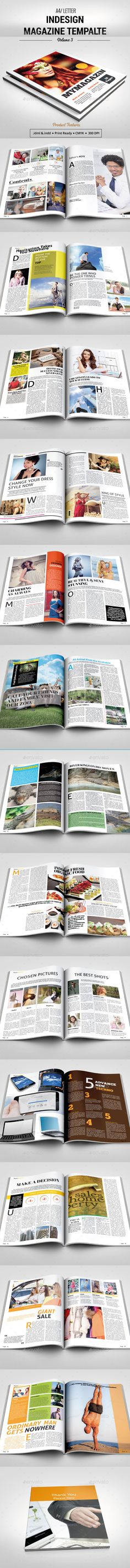 Indesign Magazine Template Original, modern and professional magazine design with a luxury & stylish look. It consists of 28 pages