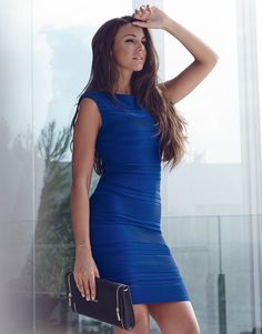 909ff291708b Lipsy Love Michelle Keegan Ripple Detail Bodycon Dress Michelle Keegan