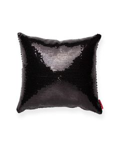 Decorative Black Square Full Sequin Throw Pillow