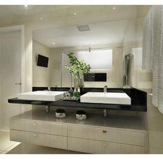 """3,204 curtidas, 18 comentários - Decore Seu Estilo (@decoreseuestilo) no Instagram: """"Um banheiro neutro e bem elegante... By @tminteriores #arquiteturadeinteriores #bathroom…"""""""