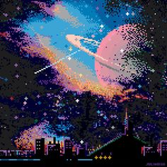 A huge collection of gorgeous pixel art from some of the the best pixel artists in world. Each artist has a bio and website link to find more of their work. Cool Pixel Art, Cool Art, Arte 8 Bits, Pixel Art Background, 8bit Art, Aesthetic Art, Aesthetic Wallpapers, Art Inspo, Digital Art