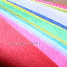 w510_95 - Wool Felt Sheets - scrap bundle - (30cm x 30cm) X 10 pieces by billycottonshop0413 on Etsy