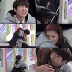 In this scene of my story, Will is crying after getting memories of his past life. His past life is startling and shocking and when Emma comes up from behind him and tries to comfort him, he holds her tight still in the flashback. Hyun Kim, Nam Woo Hyun, K Pop, Hi School Love On, Beloved Film, Best Kdrama, Korean Drama Quotes, Kim Sejeong, Drama Fever